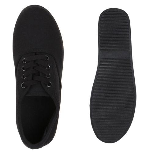 Sneaker Low Sneaker Damen Schwarz Schwarz Low Damen wSq1xf7