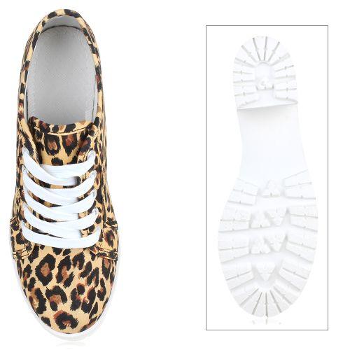Damen Stiefeletten Ankle Boots - Leopard