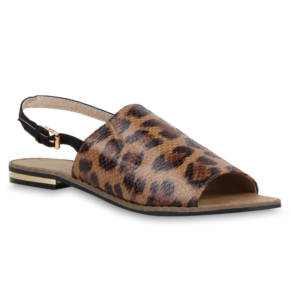 Damen Sandalen Schaftsandalen - Leopard