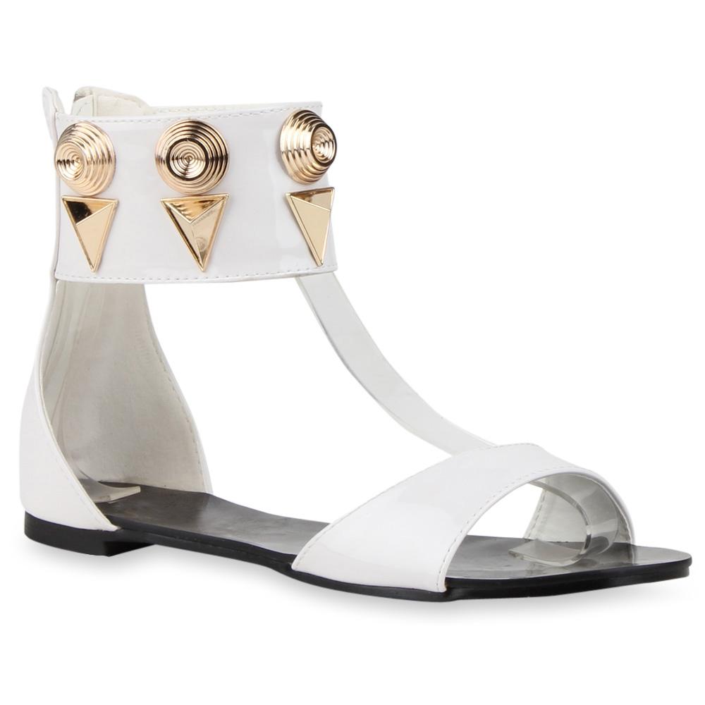 Damen Sandalen Schaftsandalen - Weiß
