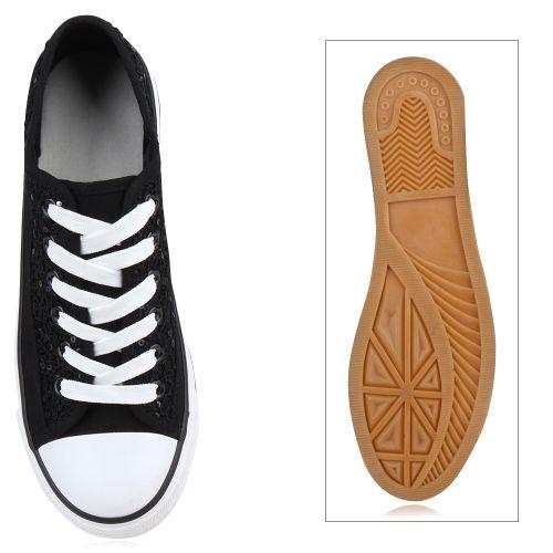 Billig Damen Schuhe Damen Sneaker in Schwarz 8921843401
