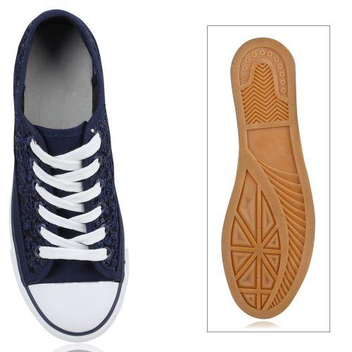 Billig Damen Schuhe Damen Sneaker in Dunkelblau 892184512