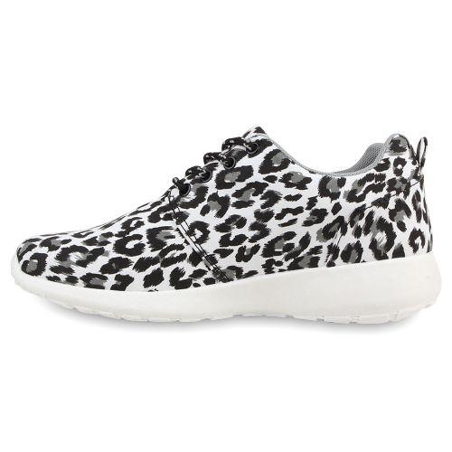 Damen Sportschuhe Laufschuhe - Schwarz Leopard