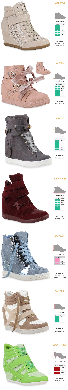 Details zu Damen Sneaker Wedges Keilabsatz Trendy Sneakers High 891915 Schuhe