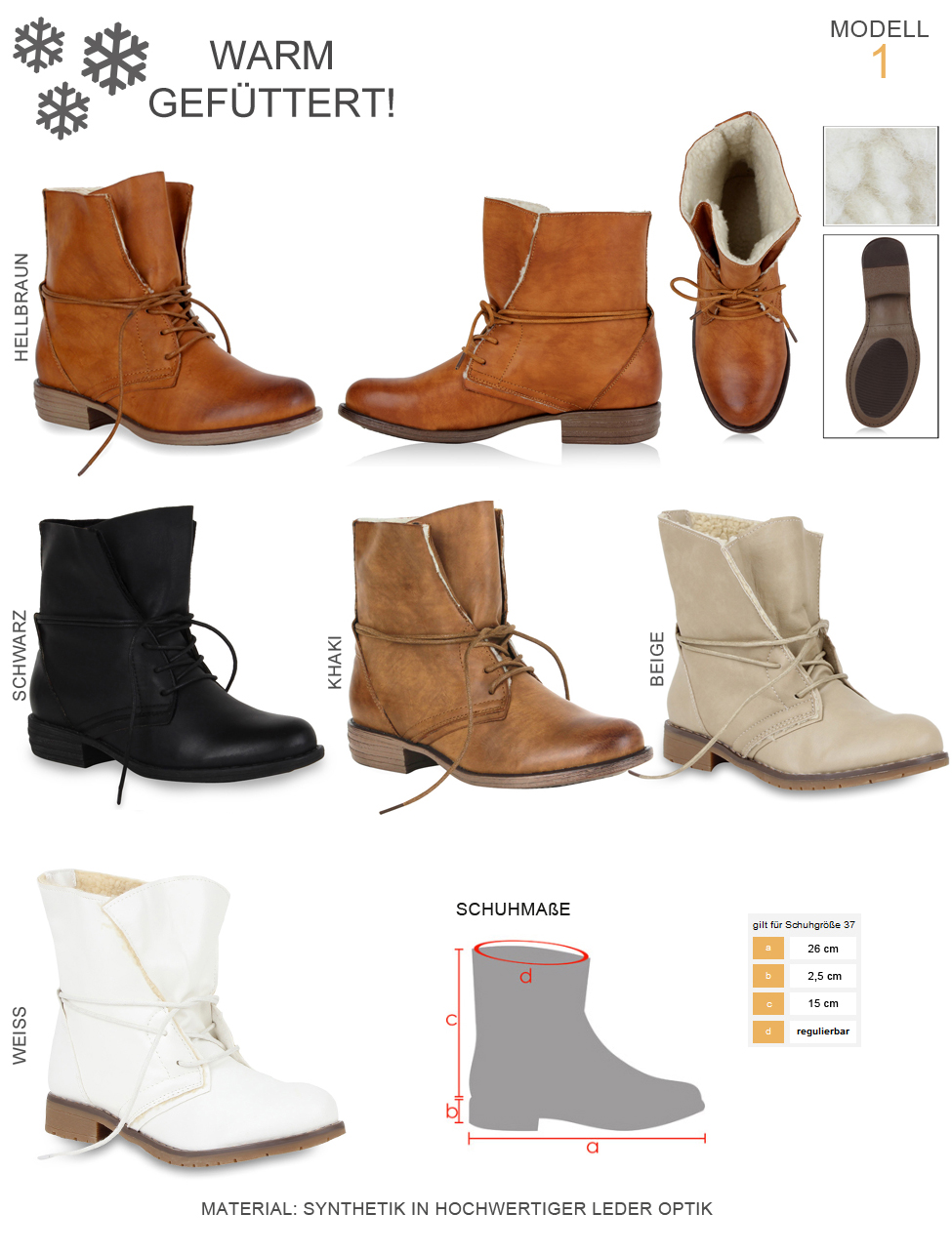 36-41 Schuhe Damen Stiefeletten Worker Boots /& Cowboy Stiefel 99284 Gr